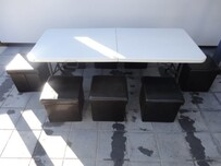Table & Black Cubes